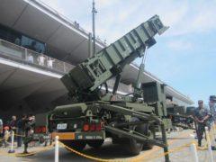 ペトリオットミサイルの展示