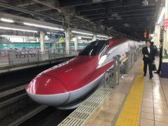 新幹線こまちで。