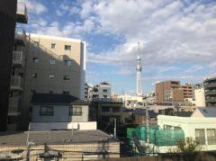 錦糸町あたりで東京スカイツリー