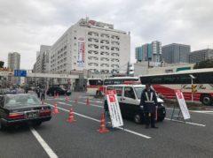 東京マラソンで通行止め