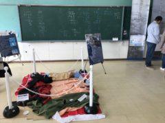 教室は展示スペースになっている