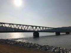 新北上川大橋も津波で一部が流出した