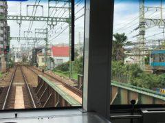 京浜東北線を追い抜いて…