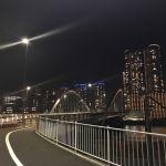 橋が見えてきた