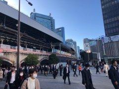 2020年3月11日新橋駅前