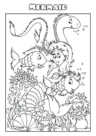mermaid coloring book template how to create a - Coloring Book Templates