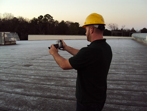 Infrared Roof Moisture Scans