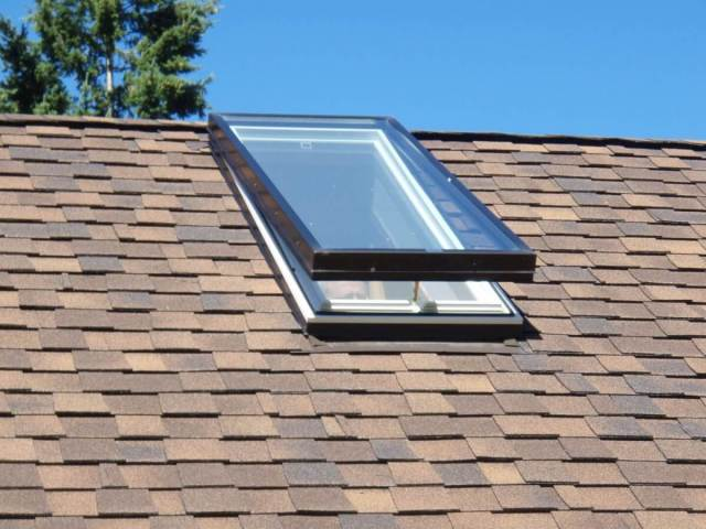 Asphalt Shingle Roof With Skylight