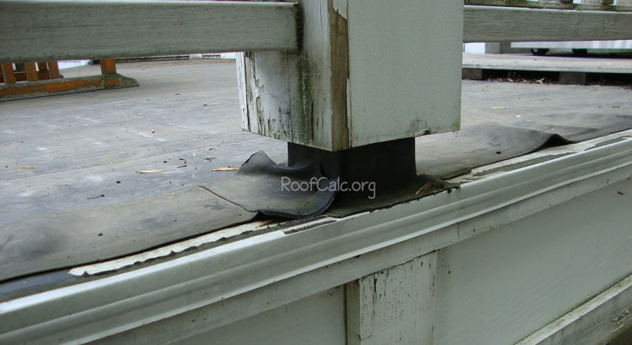 Flat Rubber Roof Deck Post Flashing Leak Roofcalc Org