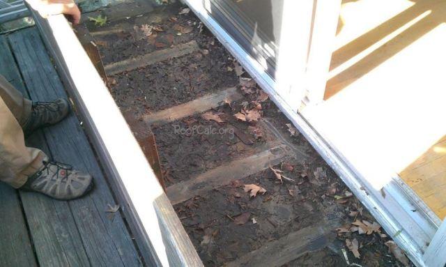 Leaking rubber roof balcony deck