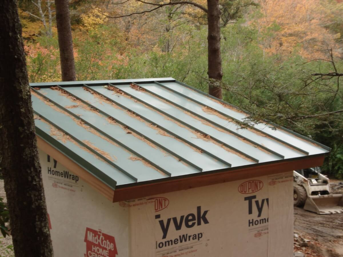 Standing Seam Metal Roof Shed
