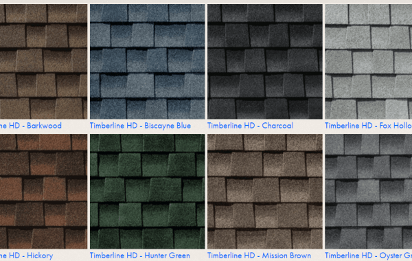 GAF Shingle Colors For Timberline shingles - HD line