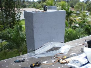 Chimney Rebuild on roof in Miami