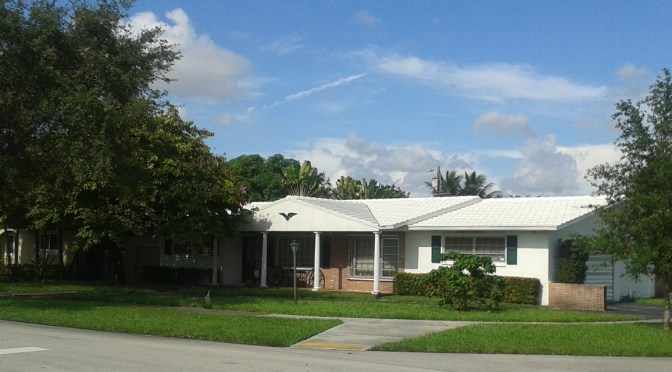 "13"" Flat Concrete tile roof in Miami Springs"