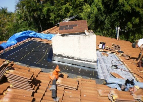 Roof Repair on Chimney in Pinecrest