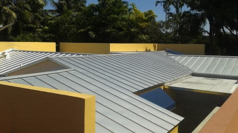 Galvalume metal roof in Miami Springs