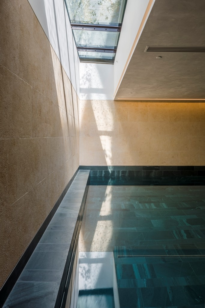 Walk-on Multi-section Flatglass Rooflight - St Edmund's Terrace - Interior