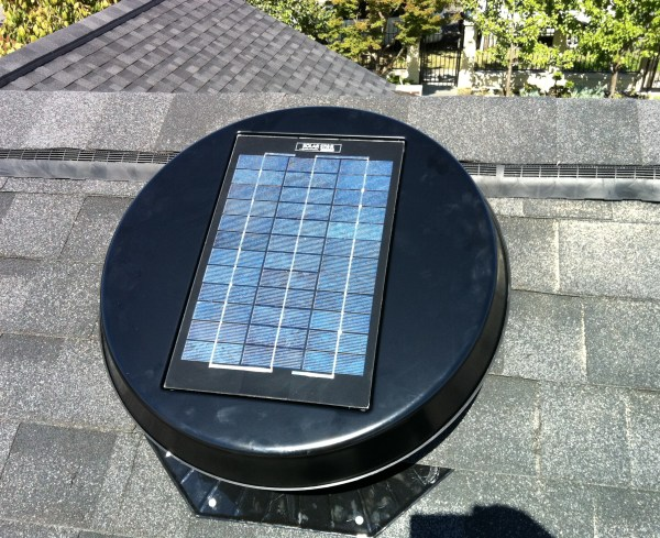 Solar powered exhaust ventilation positioned close to ridge - how to install roof ventilation