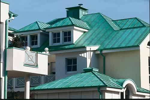 Superior Copper Roofing Tiles On A Large House