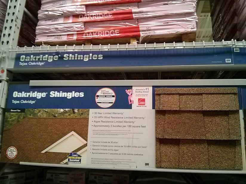 Oakridge Dessert Sand 30 Year Shingles Roofing