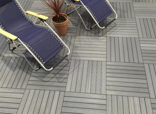 composite quick deck tile silver grey 300x300mm