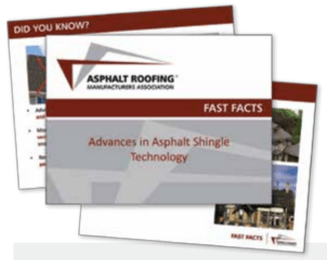The Asphalt Roofing Manufacturers Association Has Developed Two Fast Facts  Documents To Educate The Industry About
