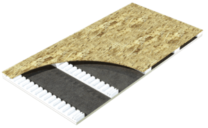 Fabral has partnered with Atlas Roofing Corp. to provide closed-cell foam insulation, also known as polyiso, for reducing thermal conductivity between the interior and exterior of a building.