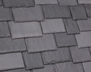 Four new color blends for EcoBlend polymer shake and slate roofs include Tahoe, Mountain, Brownstone, and Slate Gray.