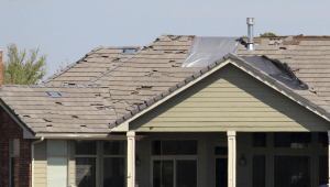 Fifteen to 20 roofs, plus a variety of decks, were damaged during the storm.