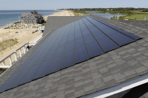 Traditional solar panels would not have been suitable for the Westerly beach home, because durability was a principal concern