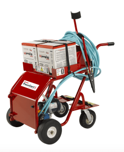 OMG Roofing Products has introduced the PaceCart 3, a more robust application system for applying OlyBond500 Adhesives packaged with patented Bag-in-Box technology.
