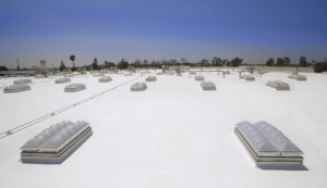 By adding 100 polycarbonate dome UL-listed smoke vent skylights, Trojan Battery will be able to save upwards of 40 percent on its power consumption for its warehouse in Santa Fe Springs, Calif.