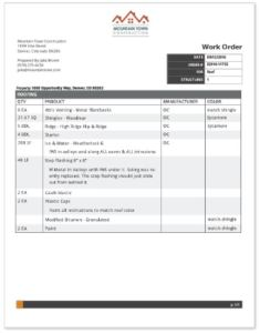 The Work Order tool offers templates that can be customized.