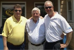 Dan Worstell (right) is pictured with his dad Jerry (center) and his brother Dave (left).