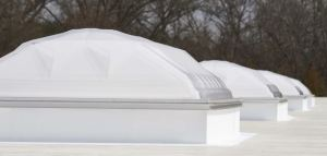 Dynamic Dome commercial skylights feature a proprietary wicking system, which evacuates condensation to the skylight exterior.