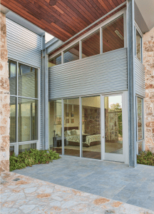 The Petersen profiles highlight the material palette, which also includes Texas limestone sourced directly from the property on which the home sits, Ipe wood, steel beams and a generous amount of glass.
