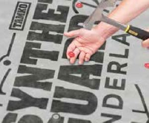 The Synthetic Guard Plus Underlayment can be customized with a contractor's company logo and phone number.