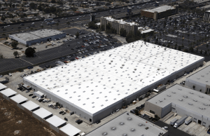 American International Industries manufactures cosmetics at the facility, and great care had to be taken to ensure no dust or fragments would fall from above and contaminate the products. Photo courtesy of Highland Commercial Roofing.