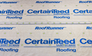 RoofRunner high-performance synthetic inderlayment from CertainTeed