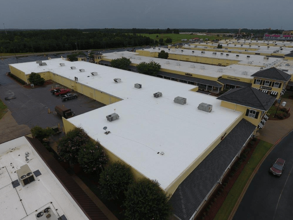 Beautiful Peach State Installed A Mechanically Attached TPO System Over The Existing  Modified Bitumen Roof System On