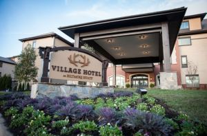 The four-story, 130,000-square-foot hotel was designed to ensure it fit comfortably within the Antler Hill Village and Winery area of the Biltmore Estate.