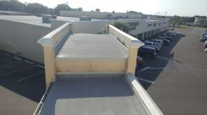 The re-roofing project of the shopping center totaled 79,556 square feet.