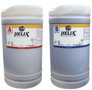 Mule-Hide Products Co.now offers Helix Low-Rise Adhesive in 15-gallon pony kegs and 50-gallon drums for use in completing larger jobs.