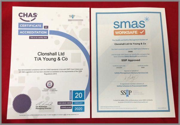 CHAS SMAS Certificate