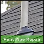 roof vent pipe leak repair Buckingham Virginia