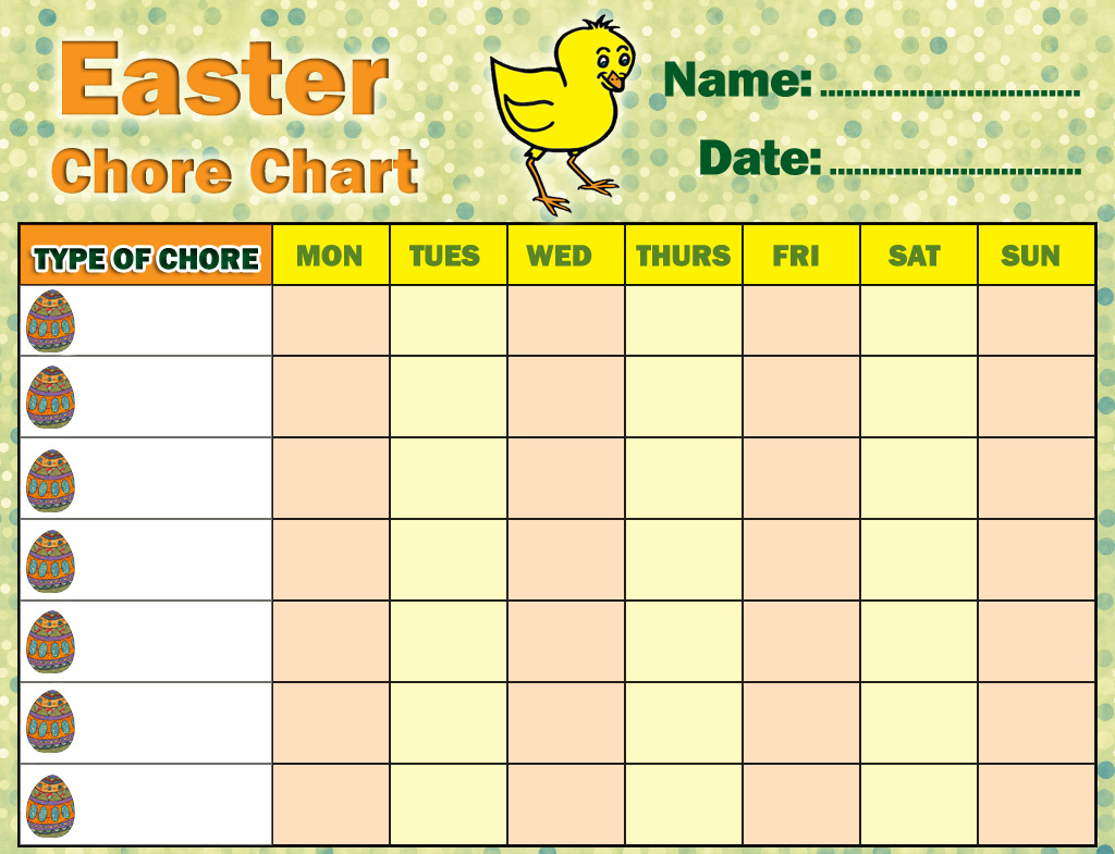 Easter Chore Chart