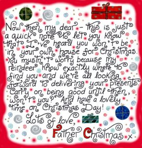 father christmas letter templates free