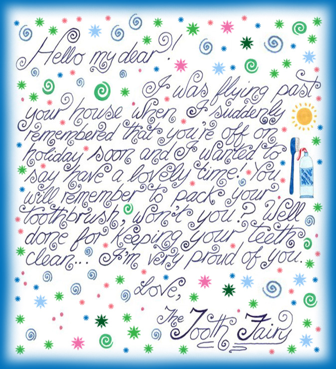 Tooth Fairy Girl Free First Tooth Printables Letter