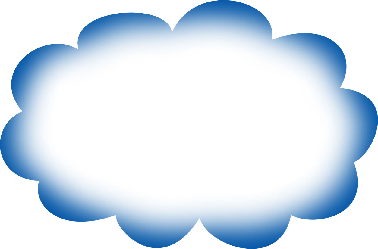 Blank Pantry Label Cloud Blue