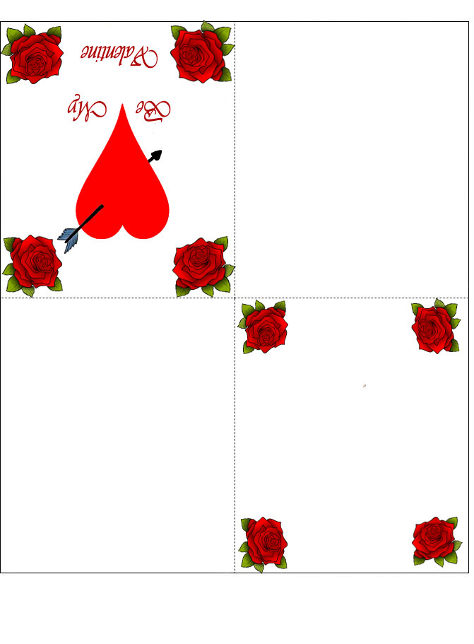 Four Fold Printable Valentines Day Card Rooftop Post
